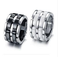 Gurantee 100% Titanium Steel brand ceramic rings fashion+titanium steel vintage jewelry ,women mixed ring lot RG006