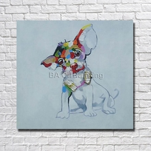 Buy Cheap Modern Pure Hand-painted Oil Painting Canvas Abstract Dog Painting Modern Home Decoration Wall Pictures Framed for $11.80 in AliExpress store