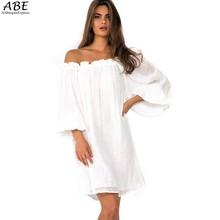 Buy 2015 vestidos Femininos Fashion Lady Women Off-Shoulder Casual Dress Chiffon Vestidos Plus Size Summer Beach Dresses 38 for $11.43 in AliExpress store