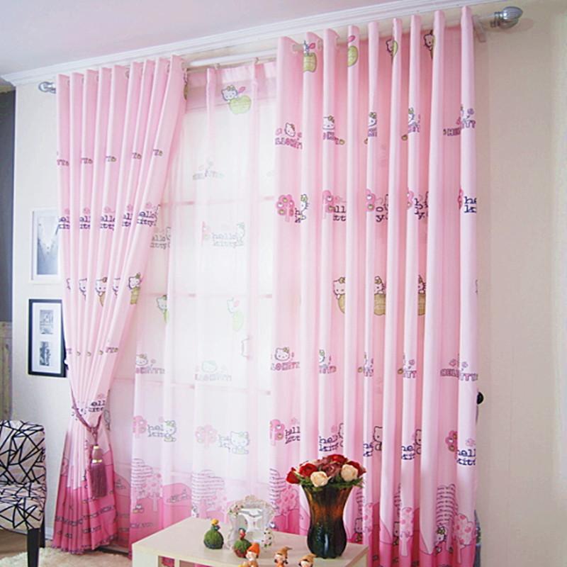 rideaux filles rideau occultant rose clair toil pour chambre enfant with rideaux filles. Black Bedroom Furniture Sets. Home Design Ideas