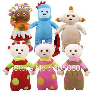 2013 new arrival In the night garden cute plush toy doll 6 pieces a set free shipping