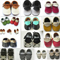 2016 New designs Genuine Leather Baby Moccasins Tassel Shoes First Walkers Anti slip Footwear Newborn Toddler
