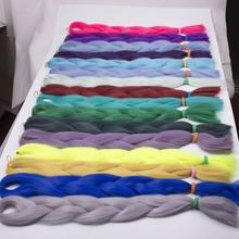 """5PCS Solid Color Qp hair Kanekalon blue Braiding Hair Ultra Box Marley Braids 24"""" 80g Expression Purple Blue Premium Braiding"""