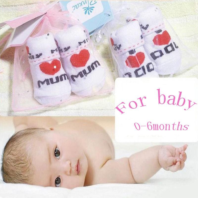 Горячая распродажа 100% носки младенца резиновые круто-устойчивых пола носки Dad мама 0-6months