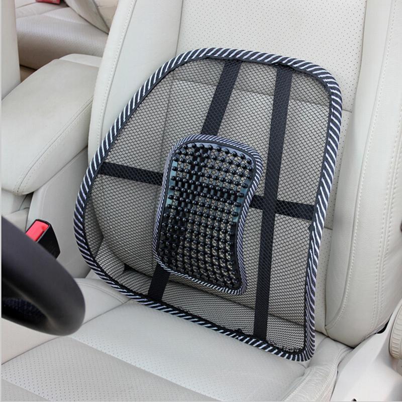 Hot! Car Seat Office Chair Back Cushion Back Lumbar Massage Black Mesh Ventilate Cushion Pad Pain Relief Seat Posture Corrector(China (Mainland))