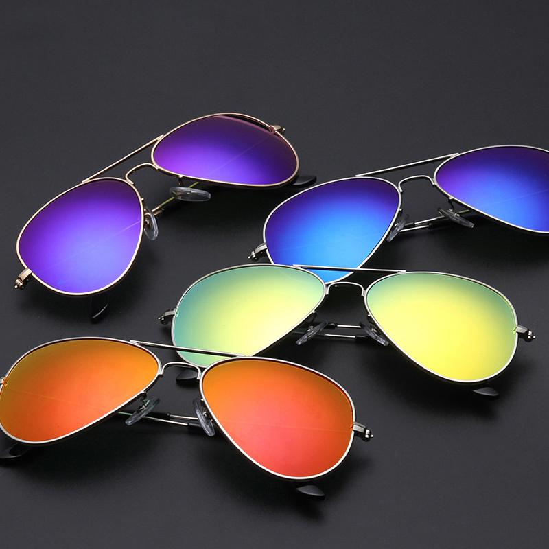 2015 Brand designer Aviator Sunglasses Female Oculos Pilot UV400 Points sun glass Men shades male fashion