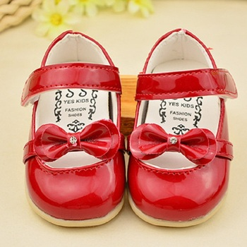 2016 Spring & Autumn Baby Butterfly-knot Leather Shoes Brand Girls Rubber Soft Bottom Wear Princess Fashion Shoes for Kids,RJ423