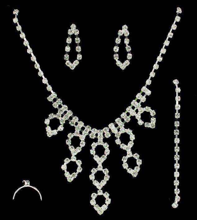 Bridal Party Jewelry Gift Sets : jewelry gift sets Wedding supplies engagement Necklace set bridal ...