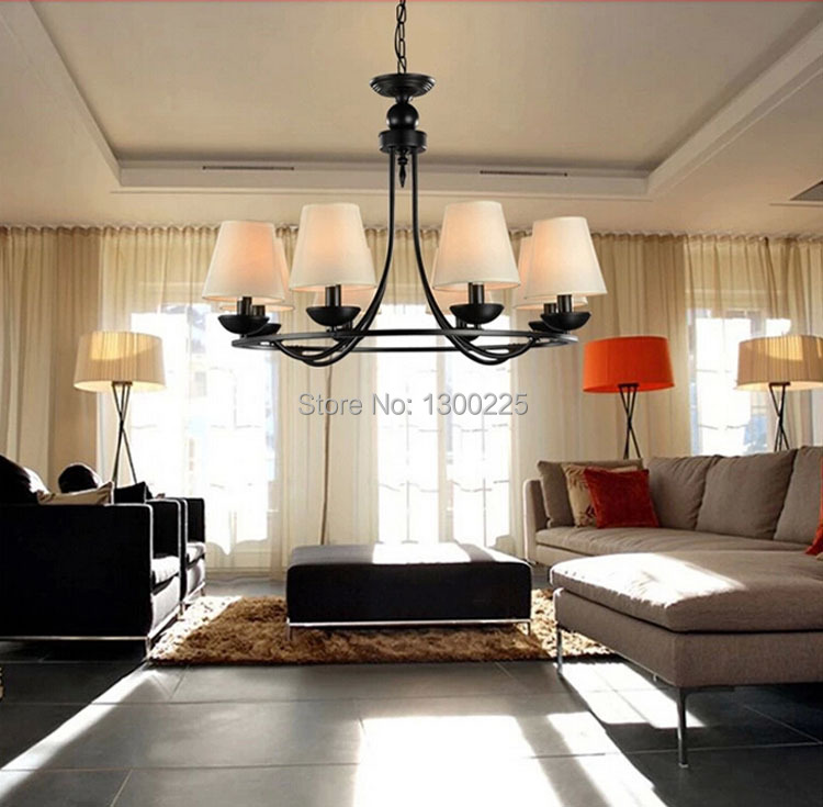 Light Filled Contemporary Living Rooms: Modern European Style Pendant Lights Countryside Style