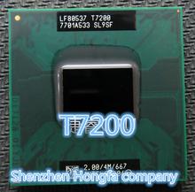 Trasporto libero per lntel laptop cpu core 2 duo t7200 cpu 4 m socket 479 cache/2.0 ghz/667/dual-core processore del computer portatile(China (Mainland))
