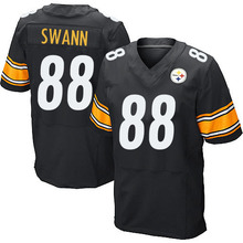 Men's #88 Lynn Swann Elite Black Team Color Football Jersey 100% Stitched(China (Mainland))