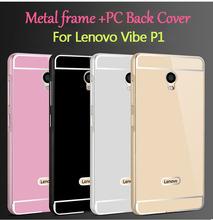 Buy Lenovo Vibe P1 Metal Case Acrylic Back Cover & Aluminum Frame Bumper Set Phone Bag Cases Lenovo Vibe P1 Shell for $3.78 in AliExpress store