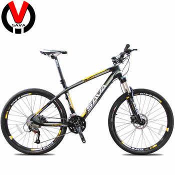 SAVA Carbon Fiber 26inch MTB Mountain Bike-Madrid 27S/30S Double Disc Brake Bicycle & SHIMANO/ 30S MicroSHIFT Derailleur 3Colors