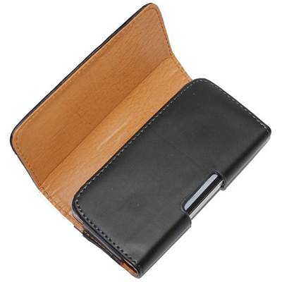 New For daxian 5 Phone Bag Mobile Cover Belt Clip Case Black Color PU Leather Pouch Wallet(China (Mainland))