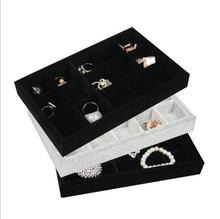 Buy LAN LIN jewelry display tray gray & black velvet receive tray fashion Jewelry Display Show Case earring receive 15 girds storage for $5.53 in AliExpress store