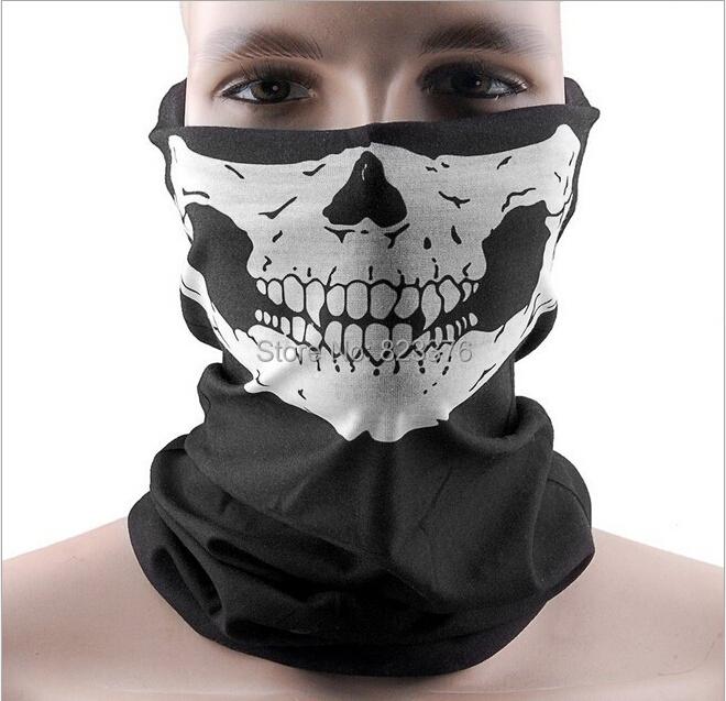 DHL Freeshipping 50pcs Skull Design Multi Function Bandana Ski Sport Motorcycle Biker Scarf Face Masks(China (Mainland))