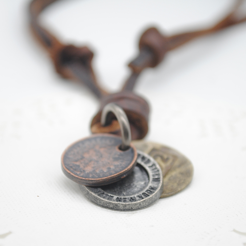 Цепочка с подвеской Oem PSS0205 * 55 Leather Copper Necklace modelle ботинки modelle 0186 551 0205 кофе с молоком черный