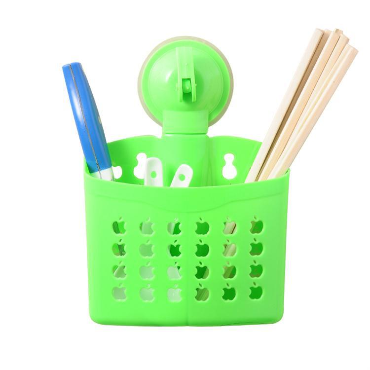 Kitchen with double barrel drain suction dual-purpose chopsticks cage / storage basket apple style(China (Mainland))