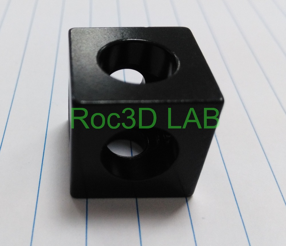 SKU 610 Black anodized three way cube corner connector for v slot extrusions profile openbuild