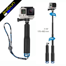 Gopro hero for 3 4 retractable hand-held rod screw selfie stick 19 – 49cm