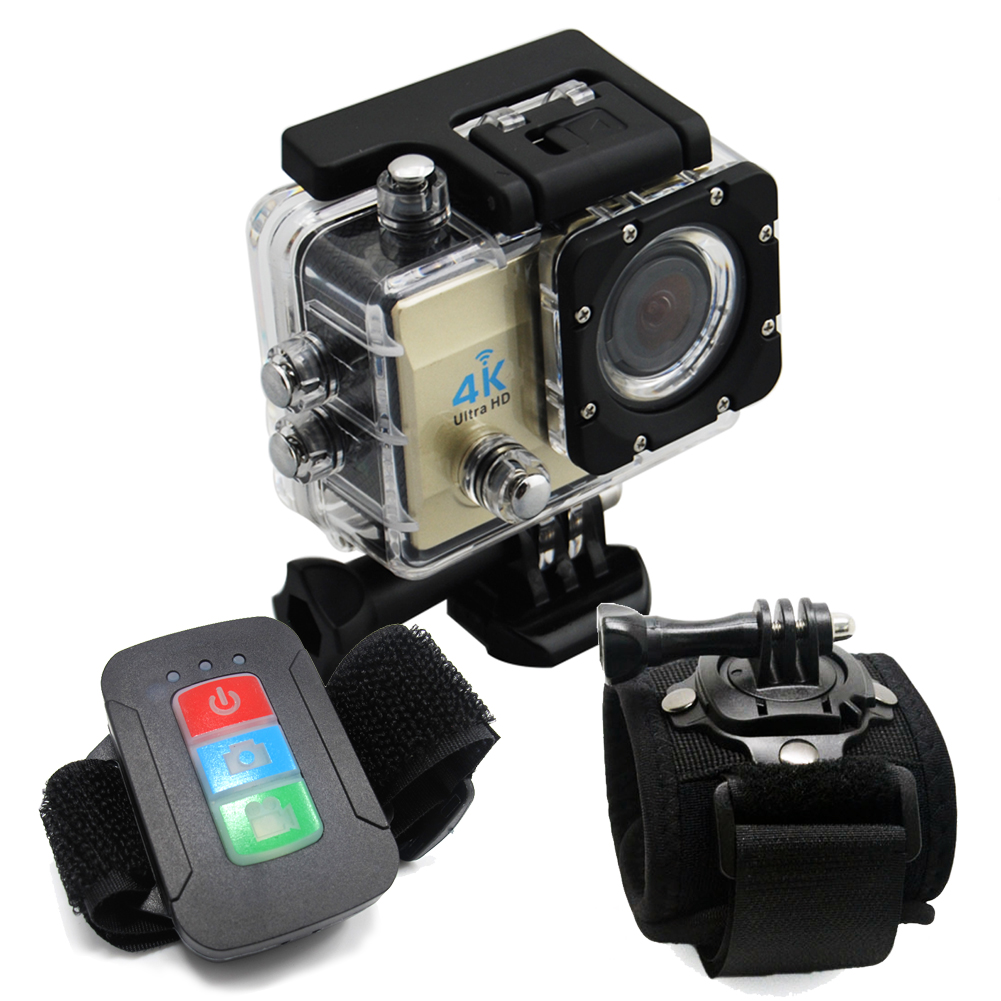 Фотография 4K WIFI Action Camera Sport Sjcam 4000 Outdoor Camera Waterproof HD Cam Video Rotation Wrist Strap Band Holder Mount Q3H+YSH