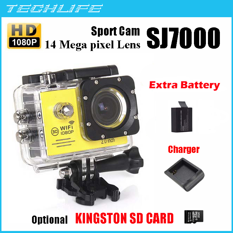 WiFi Action Camera SJ7000 Gopro Style 1080P Full HD go pro  DV Camcorder 30M Waterproof Diving Sport Camera Remote Controller