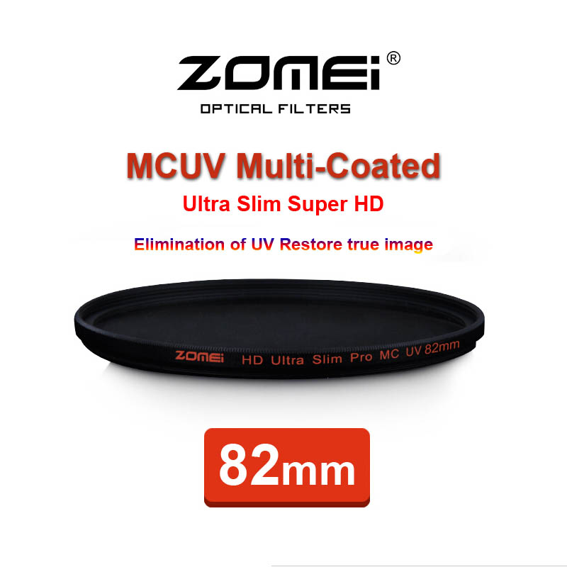 82mm ZOMEI PRO Ultra Slim HD MCUV 18 Layer Multi-Coated Schott Glass MC UV Filter for Canon NIkon Hoya Sony Camera Lens 82 mm(China (Mainland))