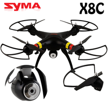 2015 Syma X8C 2.4G 4ch 6 Axis Groy RTF Drone Quadcopter with Camera 2MP RC Helicopter Headless Mode 360 Rotation Free Shipping