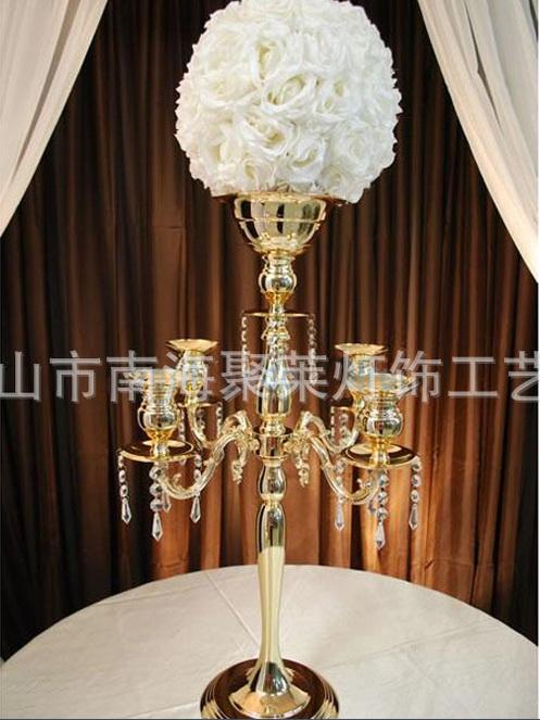 Cm height gold metal floor candelabra with bowl wedding