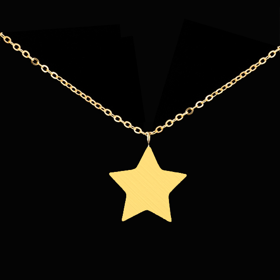 2016 Silver 18K Gold Layer Collares Best Friend Gift Stainless Steel Dainty Tiny Star Pendant Necklace for Women Fashion Jewelry(China (Mainland))