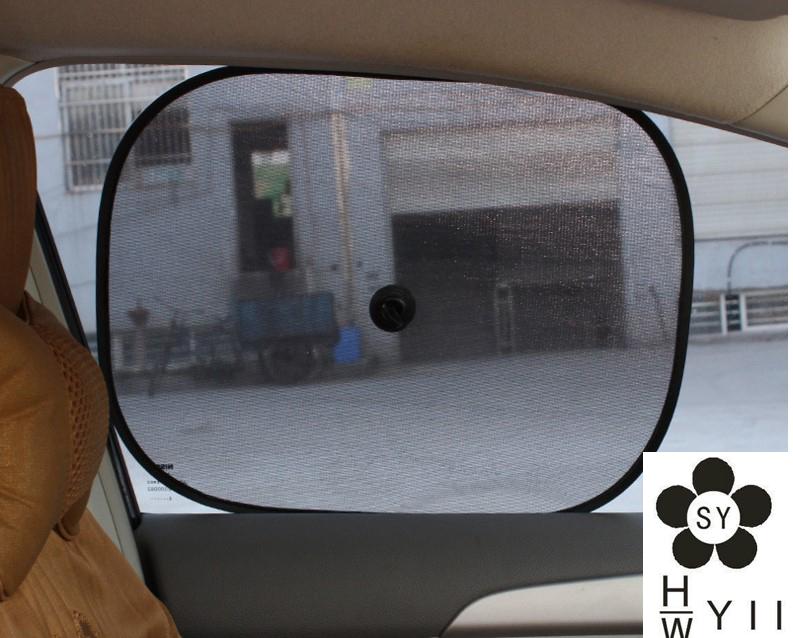 4pcs 36*44cm Black Car Sun Shade Side Window Sunshade Cover Mesh Visor Shield Screen Solar UV Protection(China (Mainland))