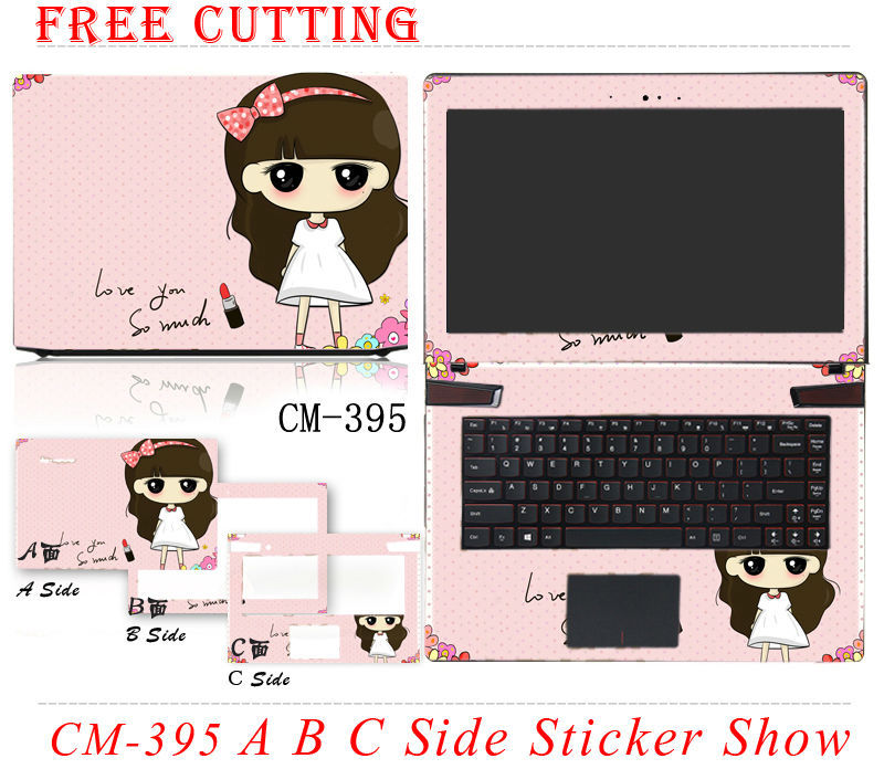 2015 High Quality Colorful Laptop Stickers Waterproof Personality Skins Case Free Cutting Protective Stickers For HP G4(China (Mainland))