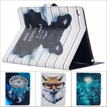 Fashion cartoon Tree Owl Dog Cat wallet card Pu leather stand holder cover case For Ipad air 2 for ipad air2 with stylus pen(China (Mainland))