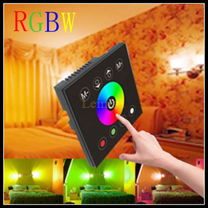 2016 DC 12V 24V Wireless LED Controler RF Touch Panel LED Dimmer RGB Remote Control For Mi light RGBW RGBWW Bulb Light(China (Mainland))