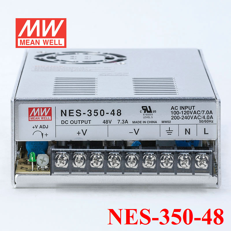 Meanwell NES-350-48 350W 7.3A 48V Single Output Switching LED Transformer High Reliability Miniature SMPS CB UL<br><br>Aliexpress