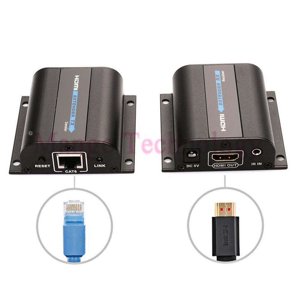 Lkv372a HD 1080 P HDMI Extender TX / RX 60 M avec IR sur CAT6 RJ45 Ethernet Support de cable HDMI 3D pour HDTV DVD lecteur(China (Mainland))