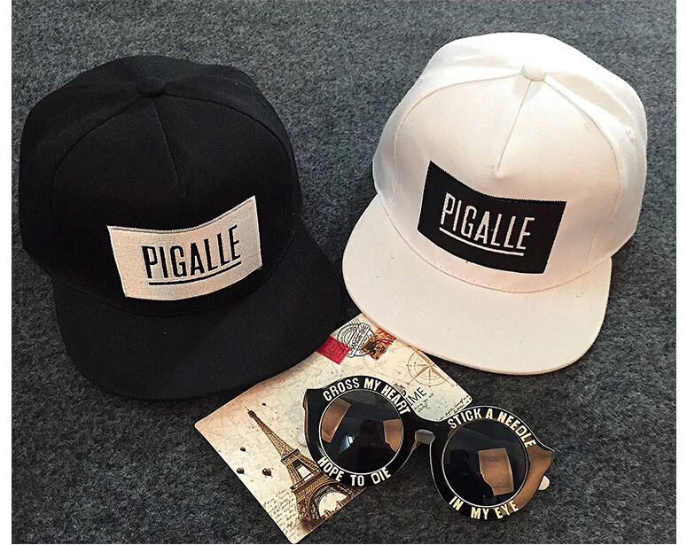Wholesale 2015 NEW Fashion Black White Pigalle GEM Snapback Baseball ... 634ee5a4fbf