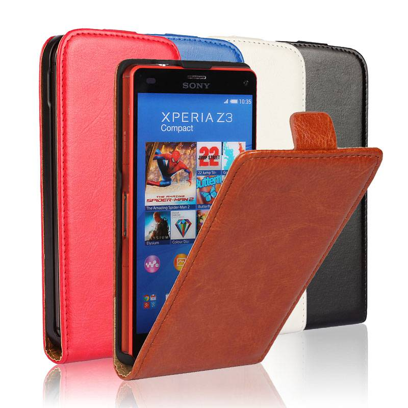 For Sony Xperia Z3 Compact Case PU Leather Up and Down Flip Case Cover Sony Xperia Z3 Mini Phone Luxury Coque Funda Capa(China (Mainland))