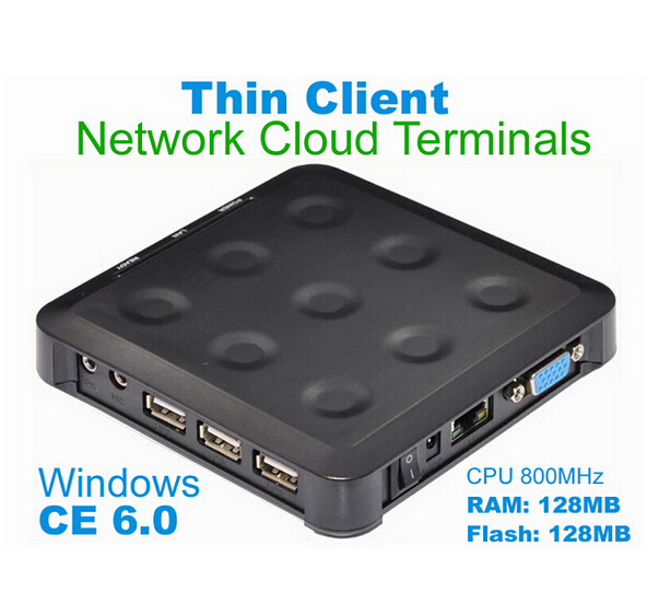 MINI PC thin client N380 with Black CE 6.0 Thin Client Flash XP 2000 Server 2003 Windows 7 or 8 Linux supported(China (Mainland))