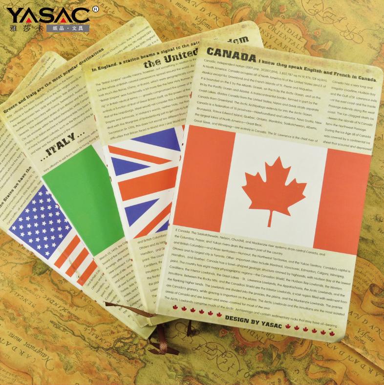 Yasac stationery vintage travel journal hardcover notebook diary(China (Mainland))