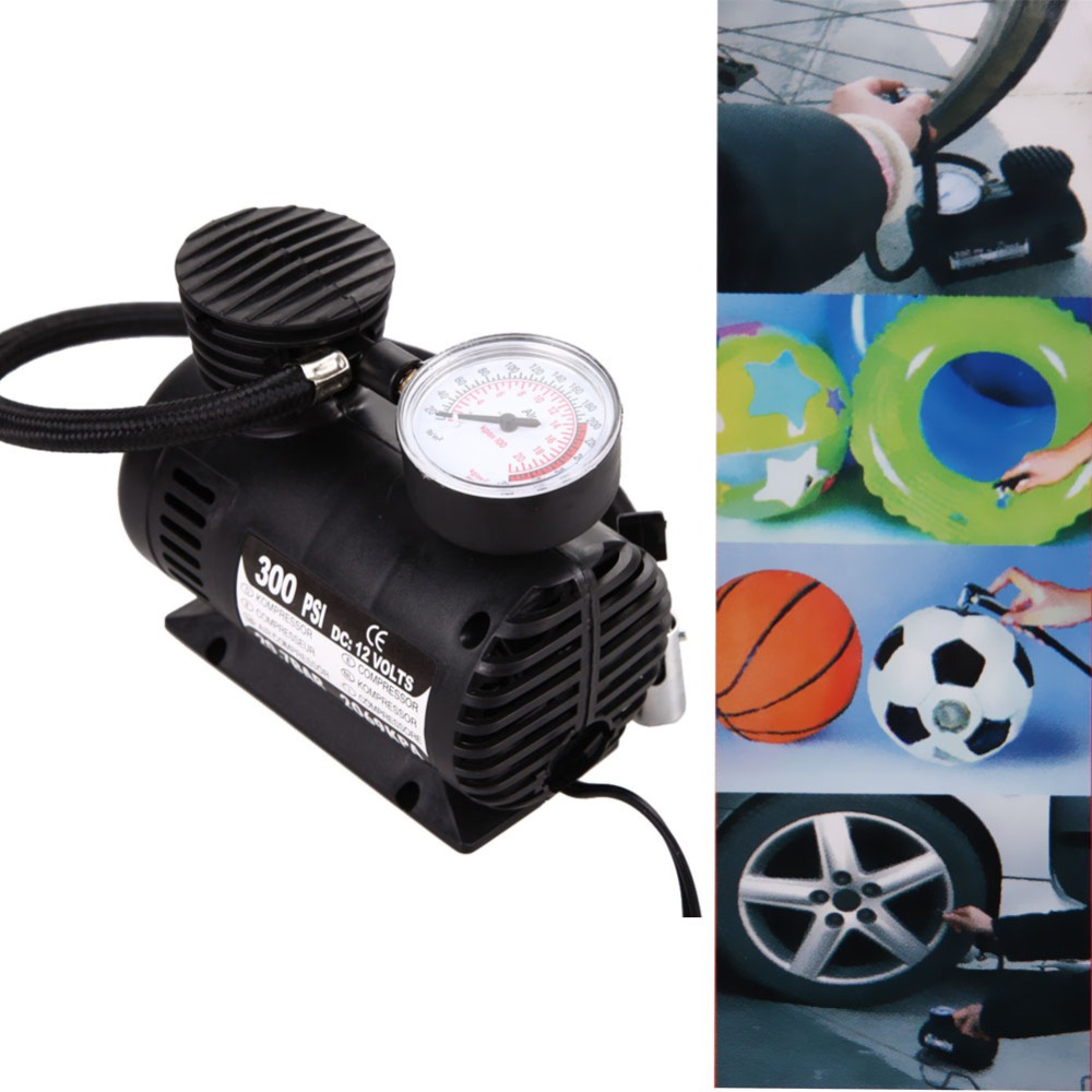 12V 300PSI Mini Portable Compact Compressor Pump Bike Tyre Air Inflator Car Electric Motorcycle Car Accessories Free Shippong<br><br>Aliexpress