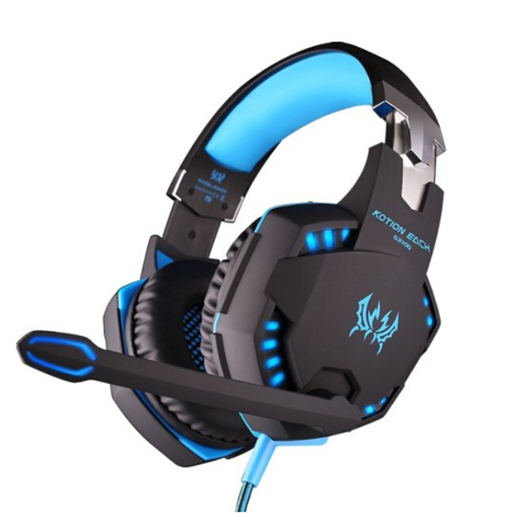 Details about  EACH G2000-S Stereo Gaming Game PC Headphone Headset Headband With Mic LED Light High Quality<br><br>Aliexpress