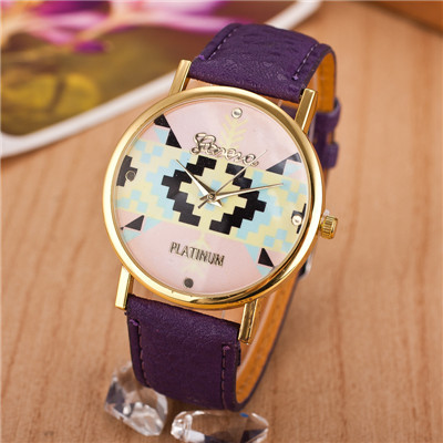 Sell Like Hot Cakes 2014 New Style Fashion Women Leather Strap Watch Gold Plate Quartz Wristwatch Relogio - CX_HWJ Store store
