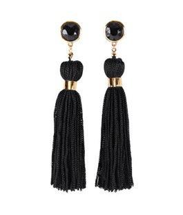 Черный кисточкой серьги 2016 мода ювелирных изделий для женщин подарок на день рождения бесплатная доставка оптовая продажа E059