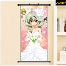 45X95CM Girls und Panzer Anzio Anchovy Japan Original Cartoon Anime wall scroll picture mural poster art cloth canvas painting
