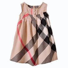 Fashion 2015 Summer Baby Dress 100% Cotton Baby Clothing Princess Girl Dresses Sleeveless Brand Casual Child Garment(China (Mainland))