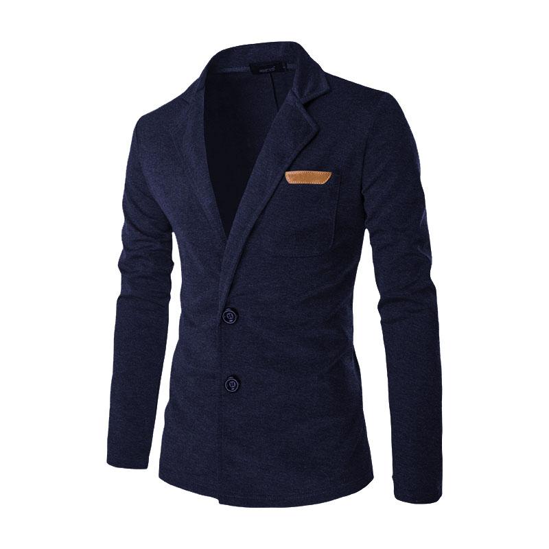 2017 New Men Blazer Fashion Slim Casual Blazer For Men Brand Mens Suit Jacket Outerwear Male Masculino 5 Colors M~XXL 53LSW