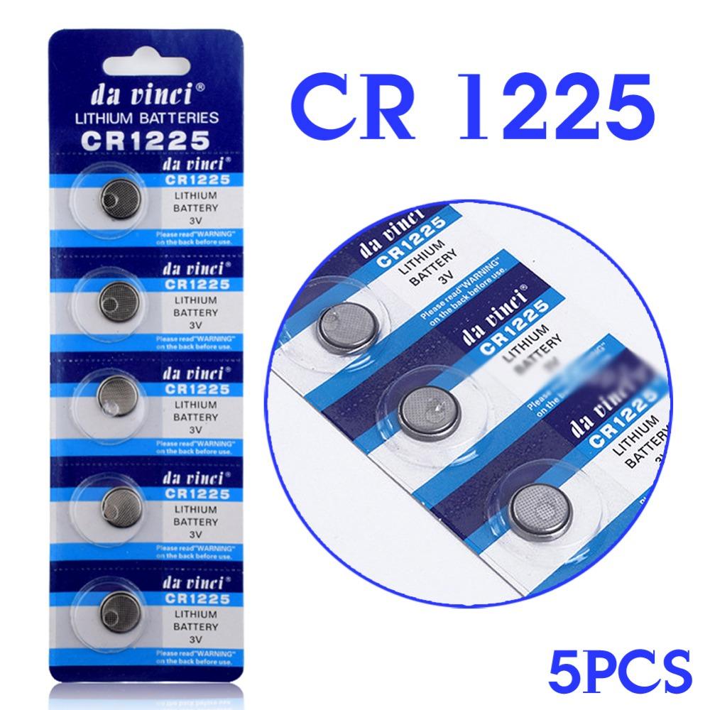 5PCS 3V Lithium Button Coin Cells Batteries CR1225 LM1225 BR1225 ECR1225 KCR1225 EE6220