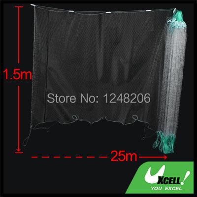 Net Hole Size 2.8 x 2.8cm Clear White Fishing Fish Trap 25M x 1.5M Monofilament Gill Net(China (Mainland))