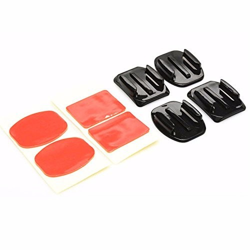 2pcs Flat and 2 Pcs Curved Adhesive Sticker Mounts With Adhesive Pads For Gopro 3+/3/2 SJ4000 SJ5000 For Xiaomi Yi